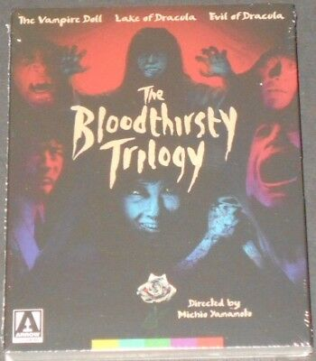 THE BLOODTHIRSTY TRILOGY usa blu-ray NEW SEALED the vampire doll EVIL OF DRACULA
