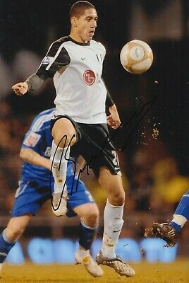 Chris Smalling Hand Signed 12x8 Photo - Fulham - Football Autograph.