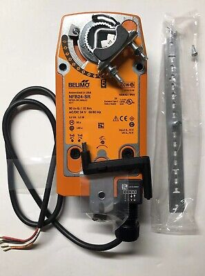 Belimo NFB24-SR,Damper Actuator, Spring Return,2-10vdc,24VAC/DC,90in-lb/10Nm