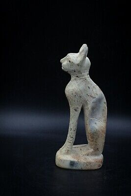 Unique Egyptian goddess Bastet statue carved stone made in egypt