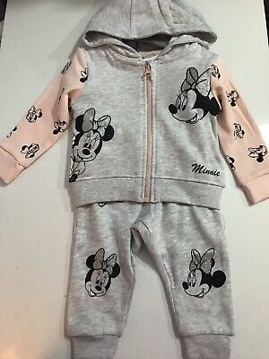 Primark Disney Mickey Minnie Mouse 3 Piece Baby Girls Tracksuit Set 3-24 Months