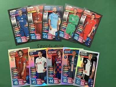 Topps Champions League 19 20 Limited Edition XXL Match Attax All 10 XL Complete
