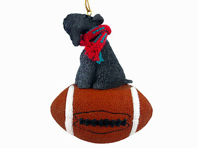Kerry Blue Terrier Dog Football Sports Figurine Ornament