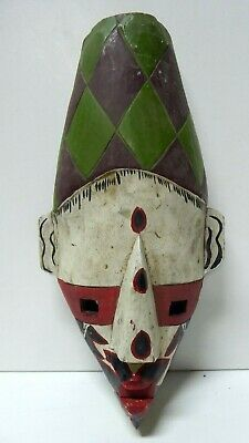 Hand Painted Carved African Wooden Mask