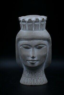Unique Egyptian Queen Nefertari vintage statue carved heavy stone made in egypt