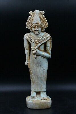 Unique Egyptian God Osiris statue vintage carved stone Made in Egypt