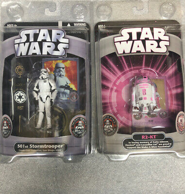 2007 SDCC Star Wars  R2-KT And 2006 SDCC 501st Stormtrooper Exclusive NEW