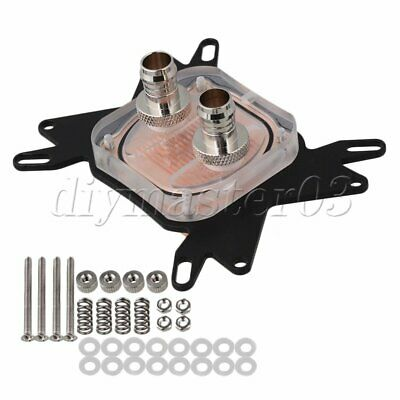 Universal Water Cooling Computer CPU Block 50x50mm Copper Base For Intel Series