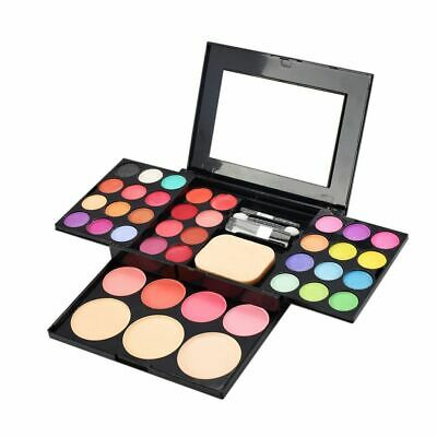 Colors Makeup Eyeshadow Lipstick Blush Concealer Powder Palette Set With Mirror