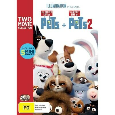 The Secret Life of Pets 1 & 2 : DVD, 2-Movie Collection NEW! Sealed! R4