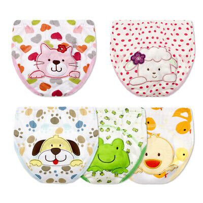 2pc/set Cartoon Baby Cloths Diapers Infant Training Pants 12-36 Month Washable