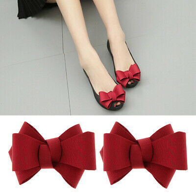 2PC Bowknot Shoe Buckle Removable High Heel Shoe Clips Charm Bridal Wedding