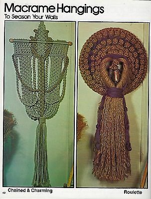 Vtg Macrame Wall Hanging Art Patterns For All Seasons III Craft Book 7281