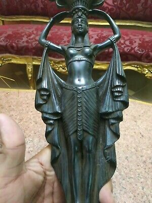Rare Antique Ancient Egyptian Statue Set Dar