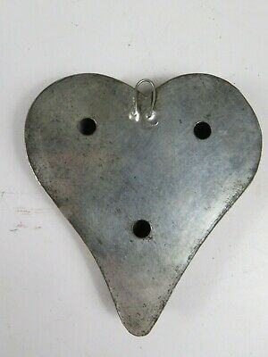 Antique Tin Soldered Heart Shape Cookie Biscuit Cutter Kitchen Tool OLD