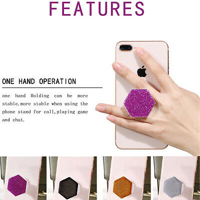 Pop Out Phone Holder Selfie Finger Grip Socket Stand Mobile Phones Universal New