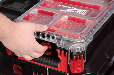 Durable Red Milwaukee Packout Compact Organiser Case Storage System