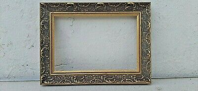"SMALL VINTAGE ORNATE GOLD WOODEN PICTURE FRAME image 9,5"" x 6.5"""