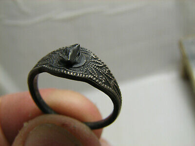 FOUND with METAL DETECTOR OLD VINTAGE STERLING SILVER RING  # 1431