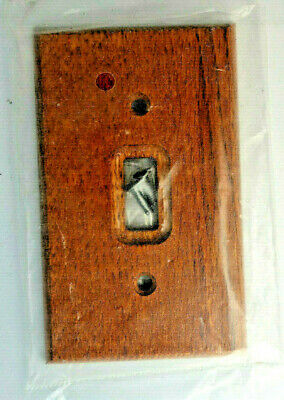 wood Switch Plug Plate American Tack & Hardware wall plate cover single toggle