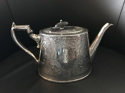 Quality Antique Silver Plated Teapot - William Hutton & Sons Chased & Mono