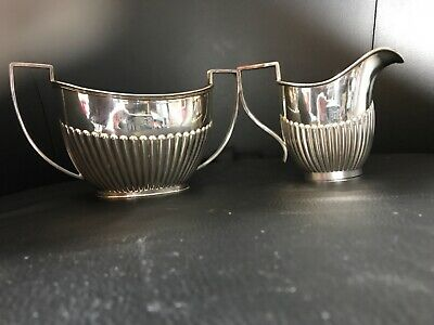 Antique Circa 1900 John Turton & Co Sheffield Silver Plated Sugar and Cream