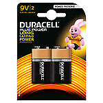 Duracell Plus Power 9V (par 2) - Pack de 2 piles alcalines 9V (6LP3146)  ( Caté