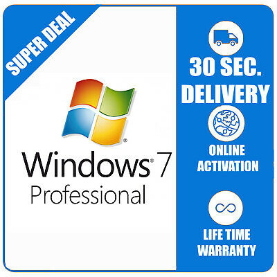 Windows 7 Pro Professional 32/64bit ESD Microsoft Licence Key Activation Code