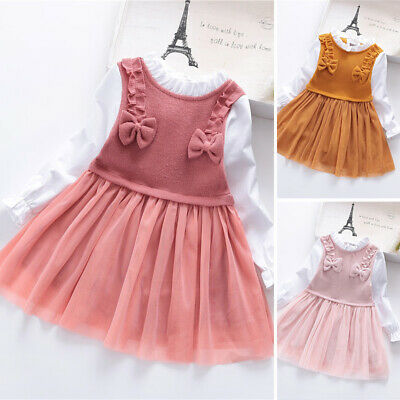 Kids Girls dress Children Toddlers Girls dress Party Mesh Girls Pleated