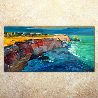 Waves Ocean Rocks Shore Art Sea View of the Cliffs by Guy Rose 8x10 Print 0300