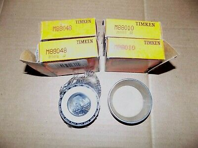 "New Timken Bearing (2) M88010 & (2) M88048  9""Ford Rear"