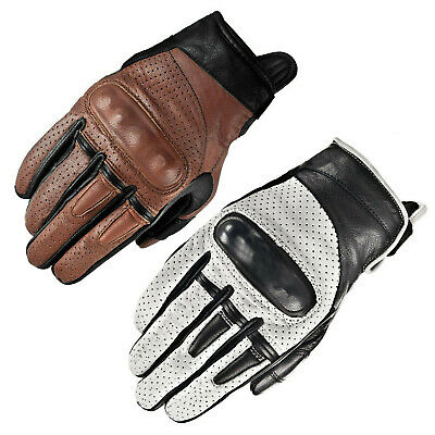 WFX Leather Vintage Best Knuckle Thermal Warm Winter Motorcycle Motorbike Gloves