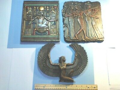 3 Hand Painted Veronese Egyptian Wall Hangings