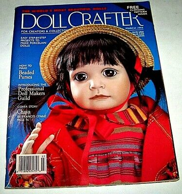 "Doll Crafter Magazine    March 1994    Unused 22"" - 13"" doll pattern inside"