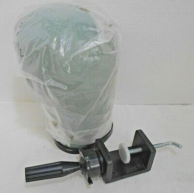 Hair Extension Manikin/Mannequin Canvas Block Head For Wig Making GRN W/ Clamp