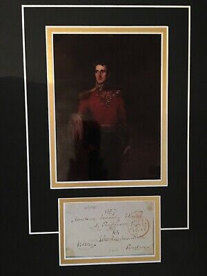 Sir John Elley - Army Officer At Waterloo - Gov. Of Galway Signed Colour Display