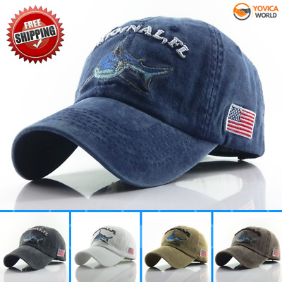 Fish Cap Baseball Adjustable Sun Embroidery Cotton Casual For Women Men Hat NEW
