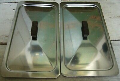 Two Replacement Steel Lids For Hostess Trolley Dish Philips Ekco