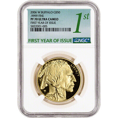 2006-W American Gold Buffalo Proof (1 oz) $50 - NGC PF70 UCAM First Year Issue