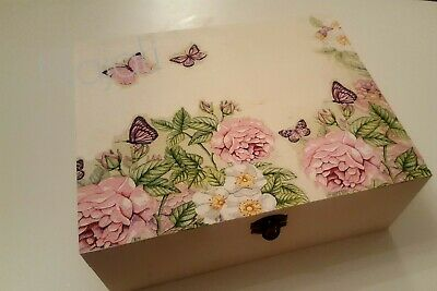 Champagne BoxBottle WoodenCase Gift Anniversary Birthday Decoupage CHMP