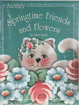 Folk Art painting book:  Springtime Friends and Flowers by Diane Meyer