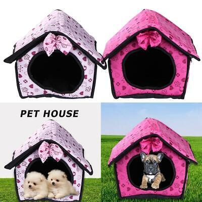 Pet Dog House Kennel Soft Igloo Beds Cave Cat Puppy Bed Doggy Warm Cushion Mat