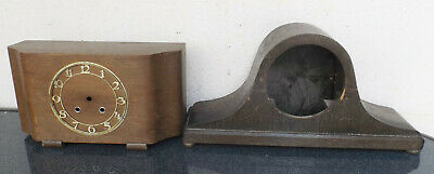 2 Old Table / Fireplace Watch Housing No Factory Bastlerteile/Restoration Object