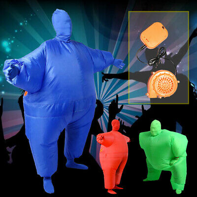 Adult Inflatable Fancy Chub Fat Masked Suit Dress Christmas Party Costume Outfit