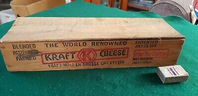 Vintage Timber KRAFT  Cheese Box Complete With Lid Excellent condition