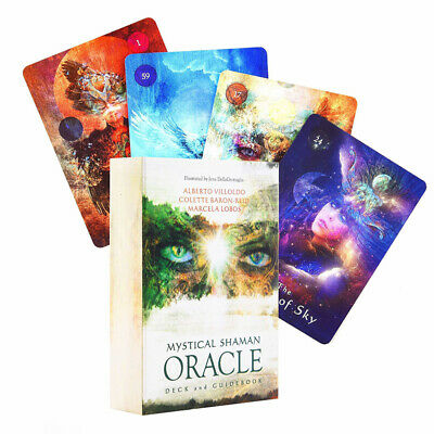 Mystical Shaman Oracle Cards 64 Cards / Set Deck Divination Magic Accessories
