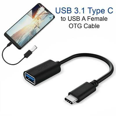 USB-C Android OTG Adapter Type C Converter USB 3.1 Male To USB 3.0 Female Cable