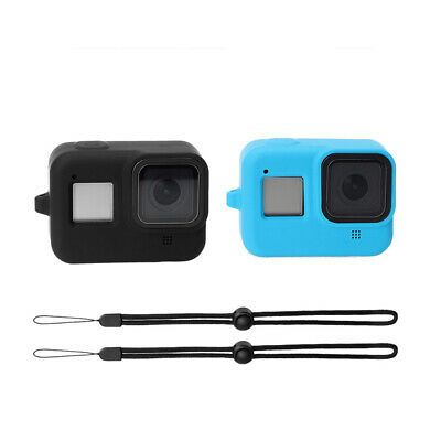 For Gopro Hero 8 Sport Camera Colored Soft Silicone Case Carry Cover With Rope