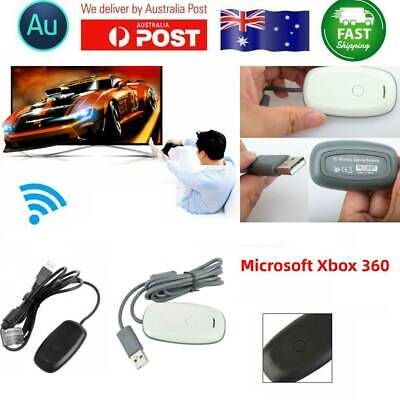 Microsoft Xbox 360 Wireless Controller Gaming USB Receiver PC Adapter Cable AU