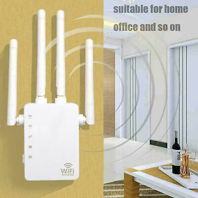 1200Mbps WiFi Repeater 5G Dual-Band Wireless Router 4 Antenna Range Extender